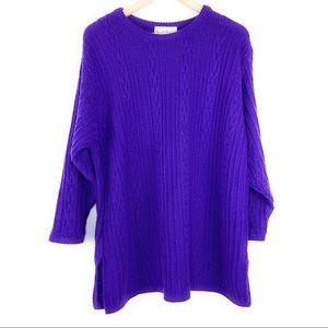 Vintage DVF Purple Oversized Metallic Sweater